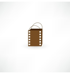 Film bag icon vector