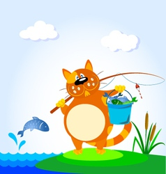 fisher cat vector image
