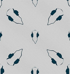 headphones icon sign Seamless pattern with vector image