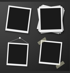 Instant photo frame mockup vector