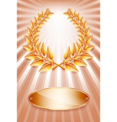 Laurel award bronze vector image vector image
