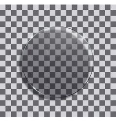 Modern glass circle vector