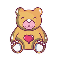 Nice teddy bear toy to game vector