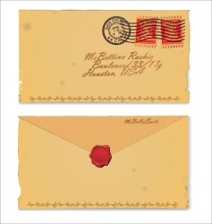 old envelope vector image vector image