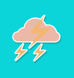 Paper sticker on stylish background of lightning vector