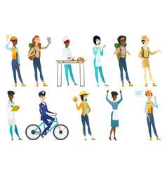 professional women set vector image