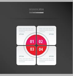 Rectangle presentation design neon pink vector