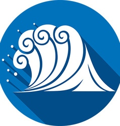 Sea Wave Icon vector image
