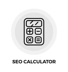 SEO Calculator Line Icon vector image vector image