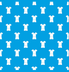 Sport shirt and shorts pattern seamless blue vector