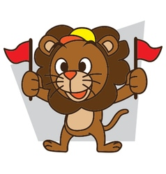 Supporters lion vector