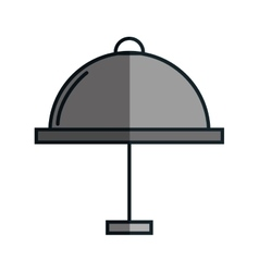 Tray server flat icon vector