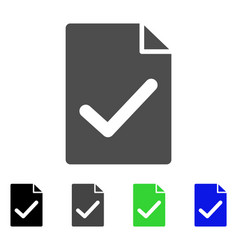 Valid agreement page flat icon vector