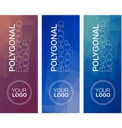 Vertical polygonal banners vector