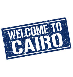 Welcome to cairo stamp vector