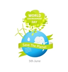 World environment day green vector