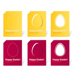 Happy easter holiday cards set vector