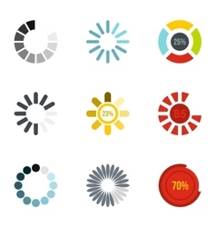 Download page icons set flat style vector