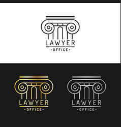 Law office logos set vintage attorney vector