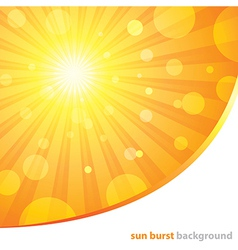 Sun burst background vector