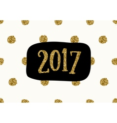 2017 Greeting Card Template vector image
