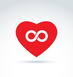 Forever love concept with heart and infinity vector image