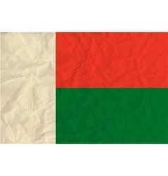 Madagascar paper flag vector