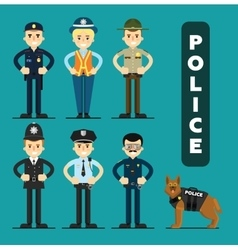 Set of policeman character vector