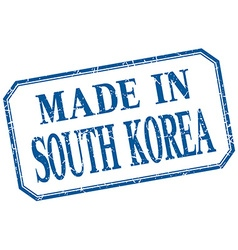 South korea - made in blue vintage isolated label vector