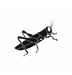 Grasshoppers icon in simple style vector