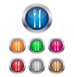 Restaurant button vector image
