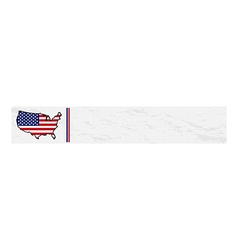 Usa map flag banner template vector