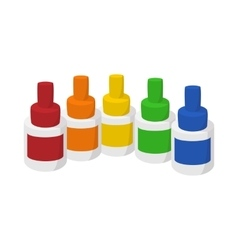 Bottles of flavor for electronic cigarette icon vector image vector image