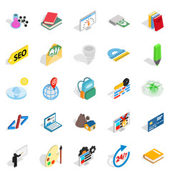 Chemical substance icons set isometric style vector