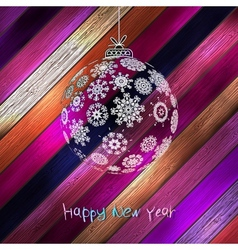 Christmas balls with place for your text EPS 10 vector image