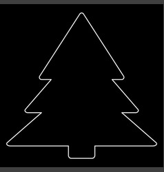 christmas tree the white path icon vector image vector image