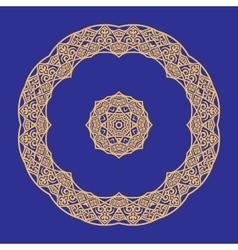 Circular pattern in arabic style vector image