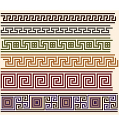 greek meanders vector image vector image