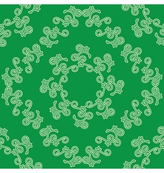 green seamless decorative pattern vector image vector image
