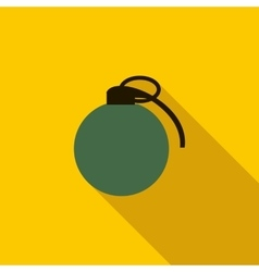 Grenade army weapon icon flat style vector image