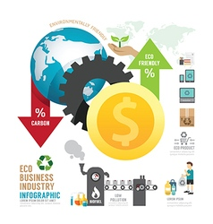 Infographic eco business industry concept vector