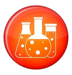 Laboratory flasks icon flat style vector image vector image
