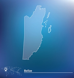 Map of Belize vector image vector image