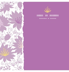 Purple shadow florals square torn frame seamless vector