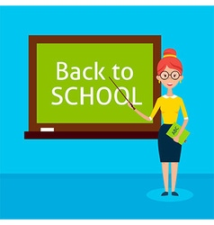 Teacher with Chalkboard Back to School vector image