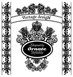 Vintage design elements on a white background vector image vector image
