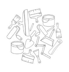 Wallpaper diy shop logotype design templates vector