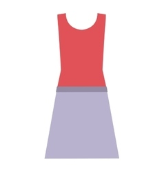 Isolated female cloth design vector