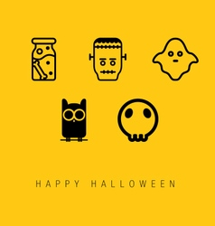 Happy halloween icon set vector