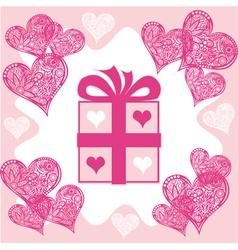 Present Valentines day vector image